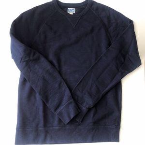J. Crew Vintage Fleece Navy Crew Neck Sweater L